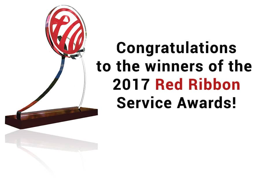 2017 Winners of Red Ribbon Service Awards